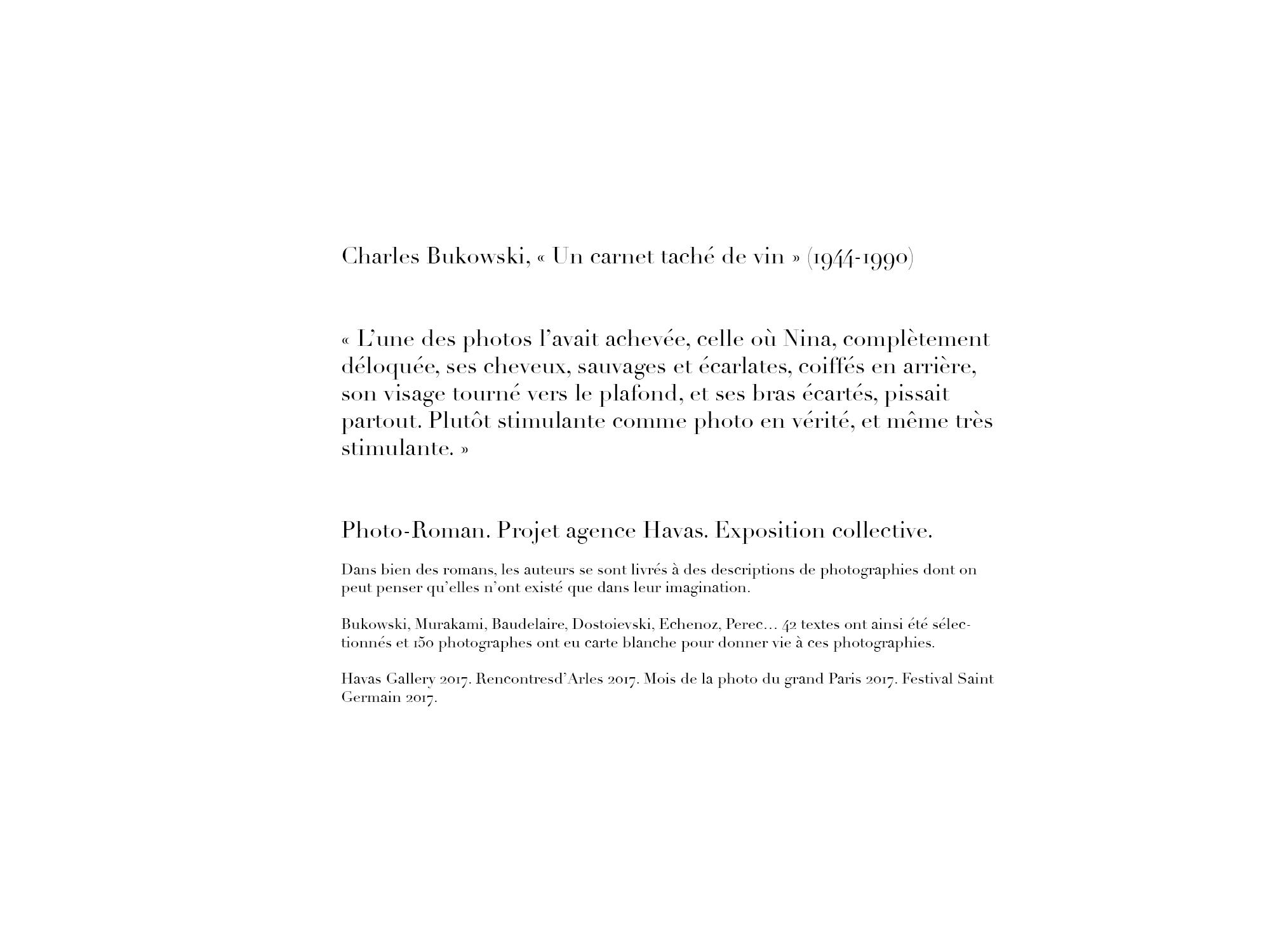 Charles Bukowski / Photo-roman